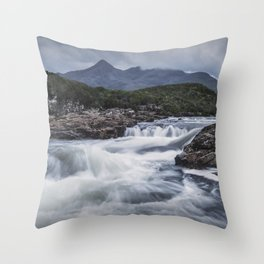 One Day in the Mountains Throw Pillow