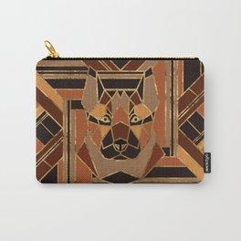 Art Deco German Shepherd dog Carry-All Pouch