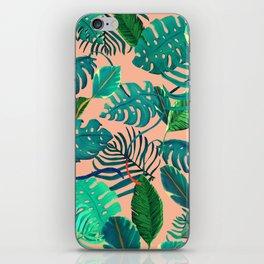 Summer Tropical Leaves iPhone Skin