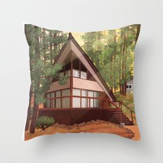Tahoe Cabin Throw Pillow