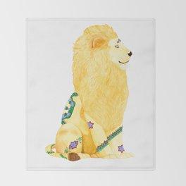 Lion Beijing Throw Blanket