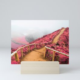 Empty walking trail Mini Art Print