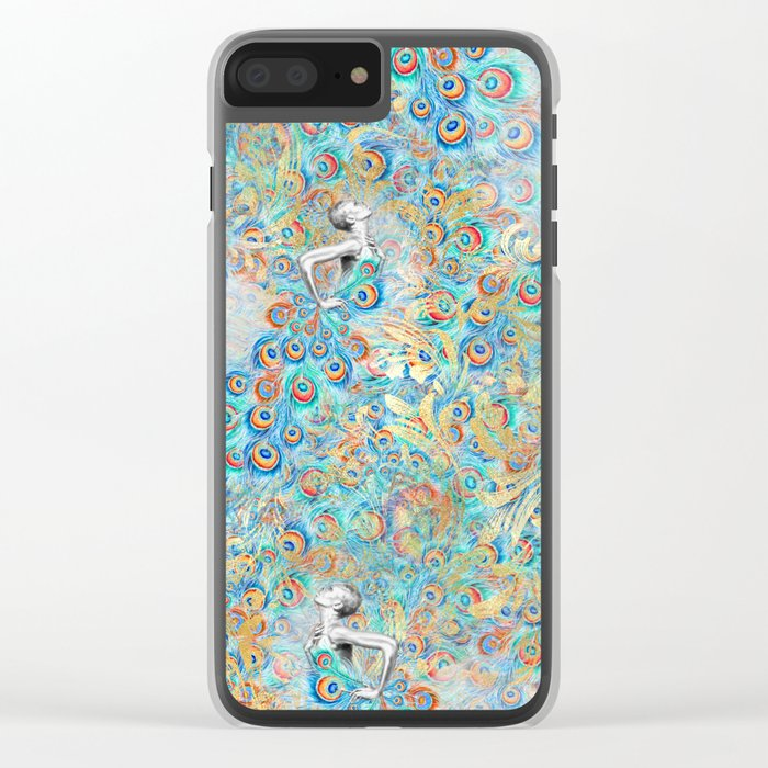 Feather Peacock #13 Clear iPhone Case