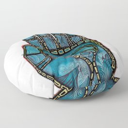 The Hand Of (Free)Time Floor Pillow