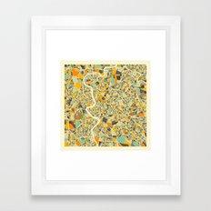 ROME MAP Framed Art Print