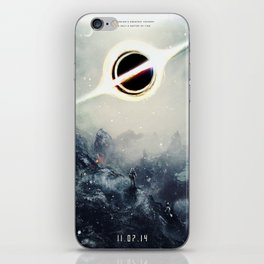 Interstellar Inspired Fictional Sci-Fi Teaser Movie Poster iPhone Skin