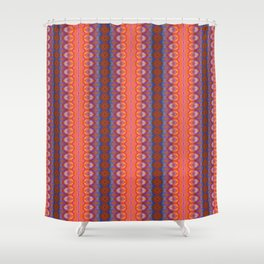 Vibrant blue and orange pattern Shower Curtain