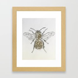 Rhinestone Queen Bee Mixed Media Art Print Framed Art Print