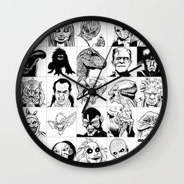 Inktober Monsters Wall Clock