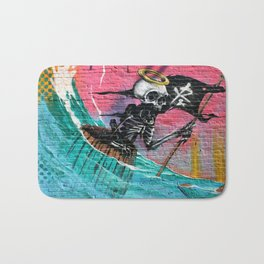 Sailing Skeleton  Bath Mat