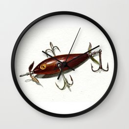heddon 100 metalized Wall Clock
