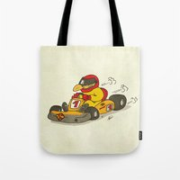 f1 Tote Bags featuring F1 by Pepan