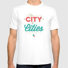 City of Cities Mens Fitted Tee White MEDIUM