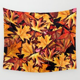 Fall Leaves Pattern Wall Tapestry