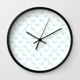 Light origami pattern Wall Clock