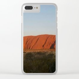 Red centre Clear iPhone Case