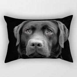 Black Dog Rectangular Pillow