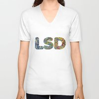 lsd V-neck T-shirts featuring Simply LSD by Teo Sharkson
