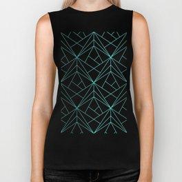 Geometric Turquoise Pattern Biker Tank