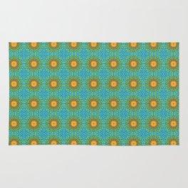 Yellow Salsify Flower Pattern Rug