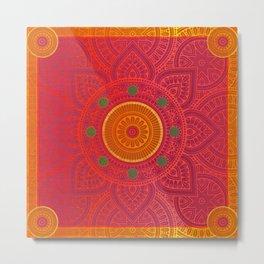 """Fuchsia and Gold Mandala"" Metal Print"