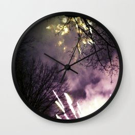 Fireworks at Central Park-NYC Wall Clock