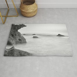 Roche Reefs At Sunset. Bw Rug