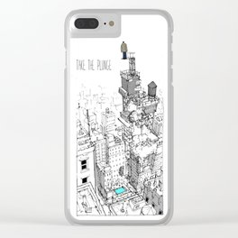 Taking The Plunge Clear iPhone Case