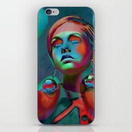 """Psychedelic Pop Fantasy"" (Twiggy II) iPhone Skin"