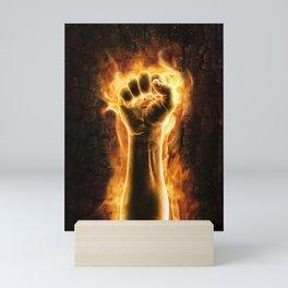 Fire fist Mini Art Print