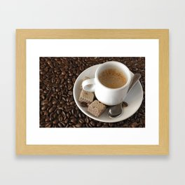 Expresso coffee Framed Art Print