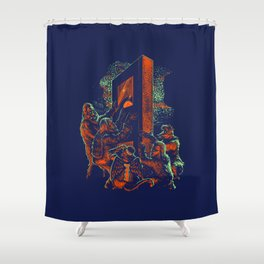 The 1980s:  A VHS Odyssey Shower Curtain