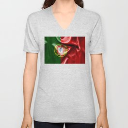 Portugal Flag Unisex V-Neck