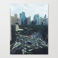 philippines Canvas Prints featuring Manila, Philippines  by Pan Kelvin