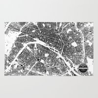 paris Area & Throw Rugs featuring PARIS by Maps Factory