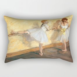 Edgar Degas - Dancers Practicing at the Barre (new color editing) Rectangular Pillow
