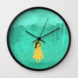 Rain friends Wall Clock