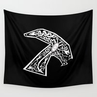 celtic Wall Tapestries featuring Celtic xenomorph by ronnie mcneil