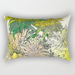 With Flowers Rectangular Pillow