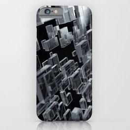 flow of transparent cubes iPhone Case