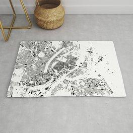 Copenhagen Map Schwarzplan Only Buildings Rug