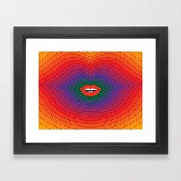 Pop Lips 2020 Framed Art Print