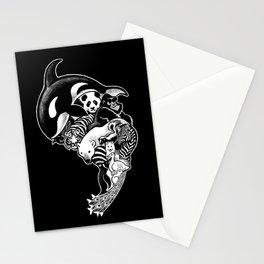 Monochromanimal (black) Stationery Cards