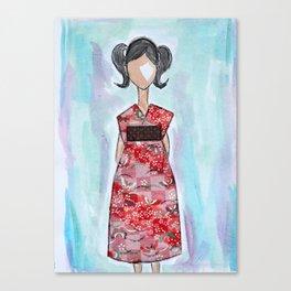 Kimono Girl Canvas Print
