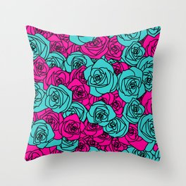 Field of Roses Throw Pillow