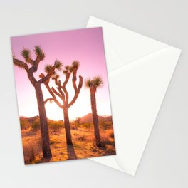 Three Sisters at Sunset- Joshua Tree Edition Stationery Cards
