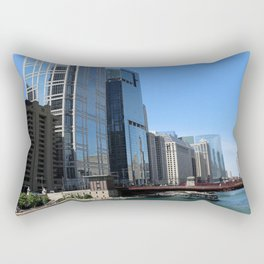 River Architecture Rectangular Pillow
