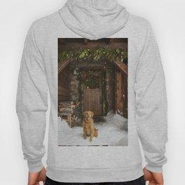 Dog and snow Hoody