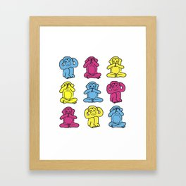 Monkey, monkey, monkey Framed Art Print
