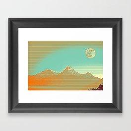 Full Moon over High Peak Framed Art Print